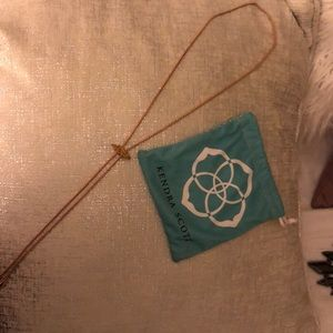 Kendra Scott Cheeska Bolo Necklace RoseGold Drusy
